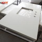 Controsoffitto artificiale bianco puro della cucina della pietra del granito