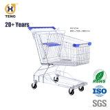 Empurre o carrinho de compras carrinho de supermercado, estilo asiático