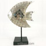 金属の立場の樹脂の海の芸術の魚の装飾