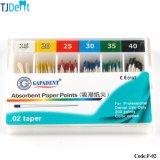 Punto di carta Endo assorbente APP (F-02) di uso del materiale da otturazione del materiale dentale