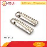 Tirones de encargo y resbaladores de la cremallera del metal del bolso de cuero
