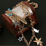 Het beste Verkopende Elegante Hart van Juwelen vormde de Blauwe Halsband van de Tegenhanger