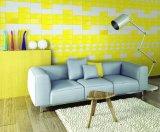 Luz amarilla 3X6 pulgadas/7,5x15cm pared de cristal biselado brillante cuarto de baño decoración de mosaico Metro