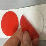 Camisa vermelha em acrílico de espuma preta fita de dupla face