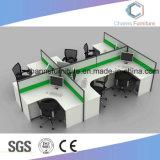 Los asientos de moderno de cinco estaciones de trabajo de oficina mesas para computadoras con Partititon (CAS-W1889)