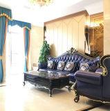2018 Feria de Cantón El vestíbulo del hotel mobiliario China sofá de cuero (1212)