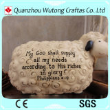 Chiffre à la maison cadre de moutons de décoration de résine d'économie d'argent de résine de côté de pièce de monnaie de modèle