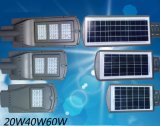 60W 하나에서 통합 LED 태양 가로등 전부