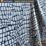 Ткань замши полиэфира штемпелевать золота змейки для софы или курток