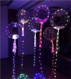 18インチ銅LEDのライトバー、装飾的な誕生日の結婚式のクリスマス・パーティのためのストリング軽く創造的な気球が付いている明確なホイルのヘリウムのボボの気球
