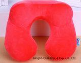 La joroba Venta caliente forma gran almohada inflable con forma de U para el viaje de trabajo de conducción de camping