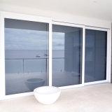 Acristalamiento doble puerta corrediza de vidrio con el interior de la rejilla/obturador