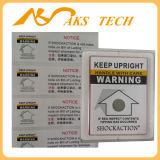 Uso popular de la etiqueta engomada del papel termal en escritura de la etiqueta amonestadora de la inclinación de la industria