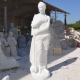 Neue natürliche westliche Art-Zeichen-Marmorstatue-Steinskulptur