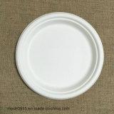 La bagasse plaque ronde biodégradable jetable