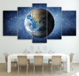 파란 지구 화포 포스터 인쇄 모듈 그림 가정에게 장식 벽 예술 걸기 그리는 5piece 벽 그림 공간 우주 별