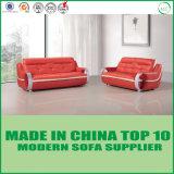 Sofá seccional de cuero de los muebles 1+2+3 modernos genuinos de madera
