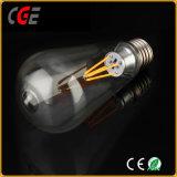 Filamentos de iluminación LED Bombilla LED serie ST64 4W Las lámparas LED