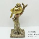 Estatua en la ramificación de árbol, estatua de encargo al por mayor de los pájaros de los animales de la resina del pájaro para la decoración