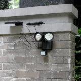 屋外の照明二重ヘッド22 LED太陽動きセンサーの機密保護ライト