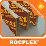 Marque de contreplaqué Rocplex, plein de film de base auxquels sont confrontés de contreplaqué de pin