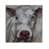 Animales Arte chino de lienzo blanco vaca pinturas al óleo pintado por el cuchillo para pared Deor