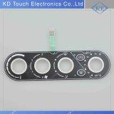 Clavier numérique en caoutchouc tactile de bouton de DEL avec le Pin de mâle pour le lavage de toilette
