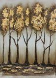 Het kleurrijke Olieverfschilderij van het Canvas van de Kunst van de Muur van de Bloem Hand Geschilderde