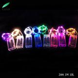 Des Weihnachtsdekoration-kupfernen Draht-LED heißer Verkauf Zeichenkette-des Licht-2018 mit verschiedenen Farben