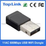 adattatore senza fili a due bande di lan del USB di 802.11AC 2.4G/5.8g Realtek 600Mbps