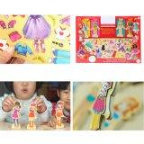 Hölzernes magnetisches Puzzlespiel der Prinzessin-Dress oben für Mädchen