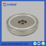 Tr/Min-B36 Pied magnétique à aimant en pot avec trou axial