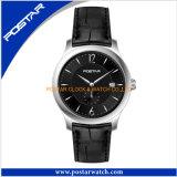 Meilleure vente de montres en or rose quartz dame avec bracelet en cuir véritable