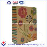 Custom bolsa de papel Kraft marrón, marrón bolsa de papel, bolsa de compras de papel de lujo