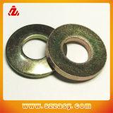 Leite rondelles plates en acier au carbone avec texte estampillé
