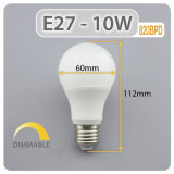Luz de LED de alta CRI 220V E27 Lâmpada LED de 9 W