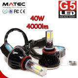 LED車のヘッドライトH1 H3 H7 H11 H4 880 881の9006の9005本の穂軸LEDのヘッドライト、24W 2400lm H1 LEDのヘッドライト