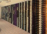 Crémaillère fixée au mur de vin en métal du décor 9-Bottle de mémoire à la maison d'étalage