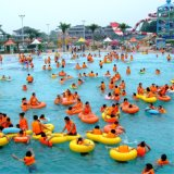 Tubo gonfiabile del pattino di acqua della doppia persona dai giocattoli dell'acqua della Cina per la sosta dell'acqua