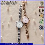 De Digitale Horloges van de Manier van het Horloge van het Kwarts van het Embleem van het Merk van de douane van Gouden Kleur (wy-17001D)