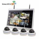 "Mini 4HSC Kits NVR 1.0MEGAPIXELS WiFi Wireless IP câmera com o monitor de 10,1"""