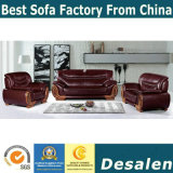 precio de fábrica caliente Venta de muebles de oficina sofá de cuero auténtico (2109)