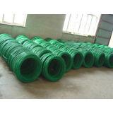 Verde Escuro arame revestido de PVC fio galvanizados a quente para fio de encadernação