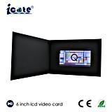 6 Einladungs-videobroschüre-Karte LCD-videogruß-Karte Soem des Zoll-A5 neueste