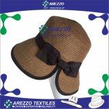 Chapéu de papel da cubeta da palha das mulheres (AZ015A)