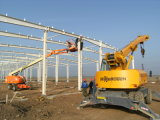 Projeto pintado da construção de aço para o projeto da construção de aço do celeiro