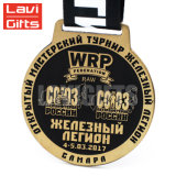 Il metallo su ordinazione di vendita superiore la medaglia molle dello smalto del ferro placcato dell'oro della pressofusione
