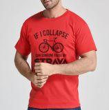 Hombre de la CVC el 70% algodón 30% poliéster 150gsm camiseta con impresión personalizada
