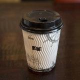뚜껑 덮개를 가진 최신 잔물결 벽 처분할 수 있는 종이컵