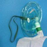 Устранимый кислородный изолирующий противогаз PVC медицинский с мешком резервуара (зеленым цветом, взрослым с трубопроводом)